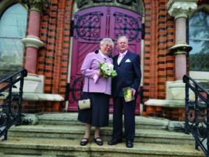 Renate Bärthel und ihr Mann bei ihrer Diamantenen Hochzeit